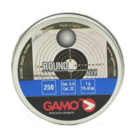Gamo Round Lead BB Pellets .22 Cal 5.5mm Tin of 250 (632032554)