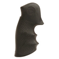 Hogue Ruber Grip For Taurus Med/Large Frame Square Butt Revolvers-Black (66000)