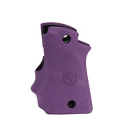 Hogue Rubber Grip W/Finger Grooves For Kimber Micro 9-Ambi Safety-Purple (39086)
