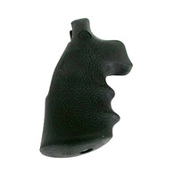 Hogue Rubber Grip For S&W K & L Frame Round Butt Revolvers-Black (19002)
