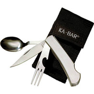 Ka-Bar Hobo Stainless Steel Folding Fork/Knife/Spoon With Nylon Case (1300)