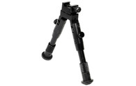 "Leapers UTG New Gen Shooters Rubber Feet Bipod 6.2""-6.7"" (TL-BP28S)"