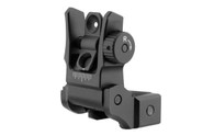 Leapers UTG Low Profile Flip-Up Rear Sight W/Dual Aperture-Black (MNT-955)
