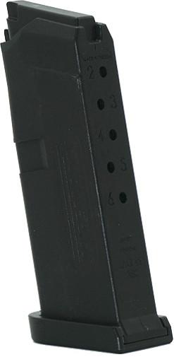 Jagemann JAG-42 Polymer Magazine For Glock 42  380 ACP 6 Round Mag-Black  (12358)