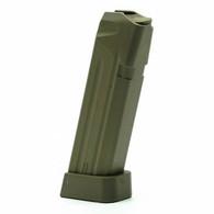 Jagemann JAG-43 Polymer Magazine For Glock 43 9mm 6 Round Mag-Green (12406)