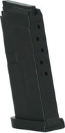 Jagemann JAG-43 Polymer Magazine For Glock 43 9mm 6 Round Mag-Black (12359)