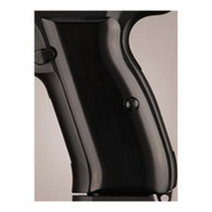 Hogue CZ-75/CZ-85 Grips Aluminum Brushed Gloss Black Anodized-75166