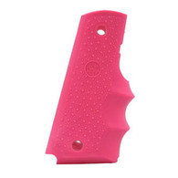 Hogue Colt Government Rubber Grip with Finger Grooves, Pink-45007