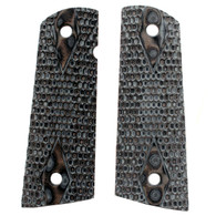 Hogue Colt & 1911 Government S&A Mag Well Grips Piranha G-10 G-Mascus Black/Gray-45127-BLKGRY