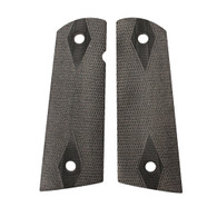Hogue Colt & 1911 Government S&A Mag Well Grips Checkered G-10 Solid Black-45159