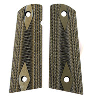 Hogue Colt & 1911 Government S&A Mag Well Grips Checkered G-10 G-Mascus Green-45158