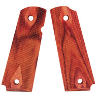 Hogue Colt & 1911 Government Grips Tulipwood, Checkered-45711