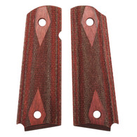Hogue Colt & 1911 Government Grips Rosewood Laminate Checkered-45511
