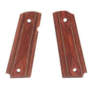 Hogue Colt & 1911 Government Grips Rosewood Laminate Ambidextrous Safety Cut, Checkered-45521