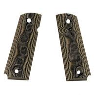 Hogue Colt & 1911 Government Grips Checkered G-10 G-Mascus Green-45178