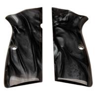 Hogue Browning Hi-Power Grip Panels Black Pearl-09418