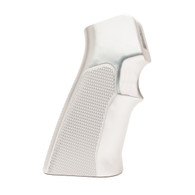 Hogue AR-15 Extreme Grips Checkered Aluminum Brushed Gloss Clear Anodized-15175