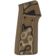 Hogue AR-15 No Finger Grooves Grip Smooth G10 G-Mascus Green-13148