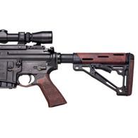 Hogue AR-15 No Finger Grooves Grip Pirahna G10 Red Lava-13639