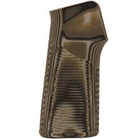 Hogue AR-15 No Finger Grooves Grip Pirahna G10 G-Mascus Green-13128