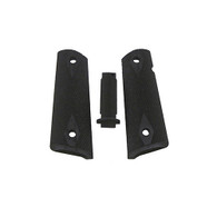 Hogue Government G10 Mag Grip Kit Checkered Flat Mainspring, Black-01259