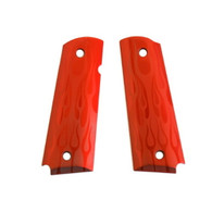 Hogue Extreme Series Grips Flames Aluminum, Red Anodized, Government-45132