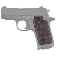 Hogue Sig P238 Grips G-10 G-Mascus Red Lava-38669