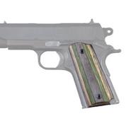 Hogue Colt & 1911 Officer's Grips Lamo Camo, Ambidextrous Safety Cut-43420