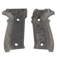 Hogue Sig P226 Grips Checkered G-10 G-Mascus Black/Gray-26177-BLKGRY