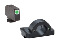 AmeriGlo Ghost Ring Night Sight Set For Glock Low-Green Tritium (GL-125)