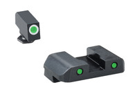 AmeriGlo Pro Operator Set For Glock Low-Green Tritium Night Sights (GL-227OP)