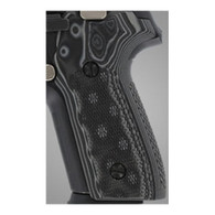 Hogue Sig P228/P229 Grips Checkered G-10 G-Mascus Black/Gray-28177-BLKGRY