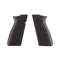 Hogue Browning Hi Power Grips Checkered Aluminum Matte Black Anodized-09170