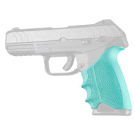 Hogue HANDALL Beavertail Rubber Grip Sleeve For Ruger Security-9-Aqua (17704)