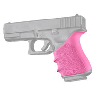 Hogue HANDALL Beavertail Rubber Grip Sleeve For Glock 19 GEN 3/4-Pink (17047)