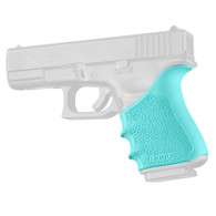 Hogue HANDALL Beavertail Rubber Grip Sleeve For Glock 19/23/32/38 GEN 3/4-Aqua (17044)