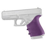 Hogue HANDALL Beavertail Rubber Grip Sleeve For Glock 19 GEN 1/2/5-Purple (17056)
