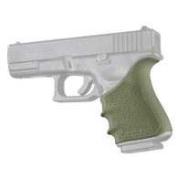 Hogue HANDALL Beavertail Rubber Grip Sleeve For Glock 19 GEN 3/4-OD Green (17041)