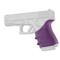 Hogue HANDALL Beavertail Rubber Grip Sleeve For Glock 19 GEN 3/4-Purple (17046)