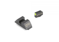 Night Fision Perfect Dot Accur8 Night Sight Set For Glock Low (GLK-001-015-YGZG)