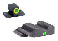 Ameriglo S&W M&P Night Sight Set-Green Front W/Green Outline-Green Rear (SW-601)
