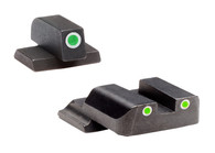 Ameriglo S&W M&P Night Sight Set-Green Front/Rear W/White Outline (SW-801)