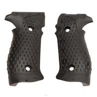 Hogue Sig P226 Grips DA/SA Magrip, Chain Link G-10 Solid Black-23119