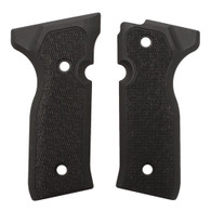 Hogue Beretta Cougar 8000+ Grips Checkered G-10 Solid Black-91179