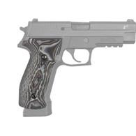 Hogue Sig P226 Grips DA/SA Magrip, Chain Link G-10 G-Mascus Black/Gray-23117