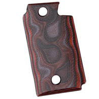 Hogue Sig P938 Ambidextrous Extreme Series Grip Smooth G-Mascus G10, Red Lava-98649