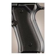 Hogue Beretta 92 Grips Checkered Aluminum Brushed Gloss Black Anodized-92176