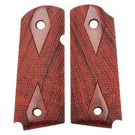 Hogue Colt & 1911 Officer's Grips Coco Bolo Checkered-43811