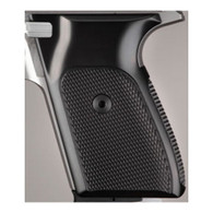 Hogue Sig P230/P232 Grips Checkered Aluminum Brushed Gloss Black Anodized-30176