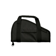 Bulldog Cases Pistol Rug Case W/Pocket & Handles-Small-Black (BD600)